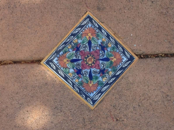 Tile detail in driveway, Berkeley