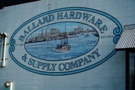 Mural on hardware store, Ballard Avenue