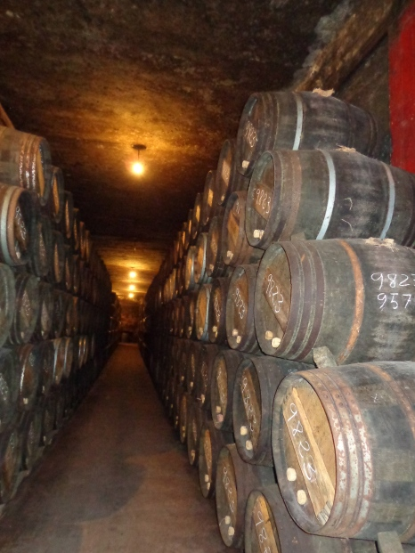 Barrels of Tondonia aging at Lopez de Heredia