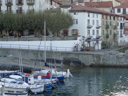 Hotel seen from the breakwater