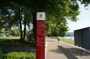 Rhine Promenade in Koblenz near Deutches Ecke