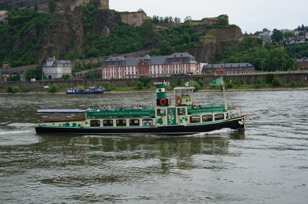 Vintage Rhine riverboat