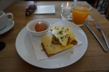 Simple breakfast at a Cafe Zondag, Maastricht
