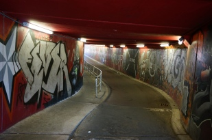 Bike tunnel leading out of Maastricht