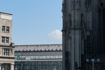 Cologne's Central Station, steps from the Cathedral