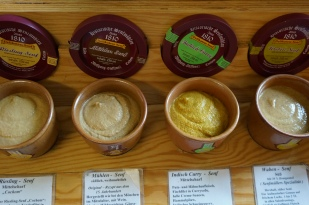 A sampling of mustards at Wolfgang Steffens