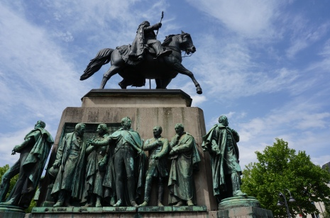 Statue of Kaiser Wilhelm III at Heumarkt, Cologne