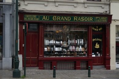 Gorgeous old storefronts are around every corner in Brussels