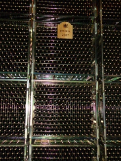 Racks of Rioja at Marques de Riscal