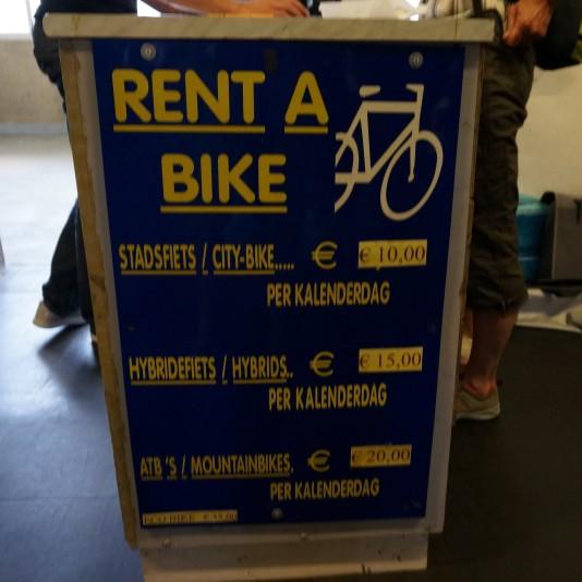Affordable bike rental at Maastricht station
