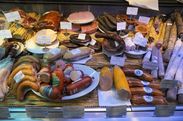 Traditional wurst at Manufactum