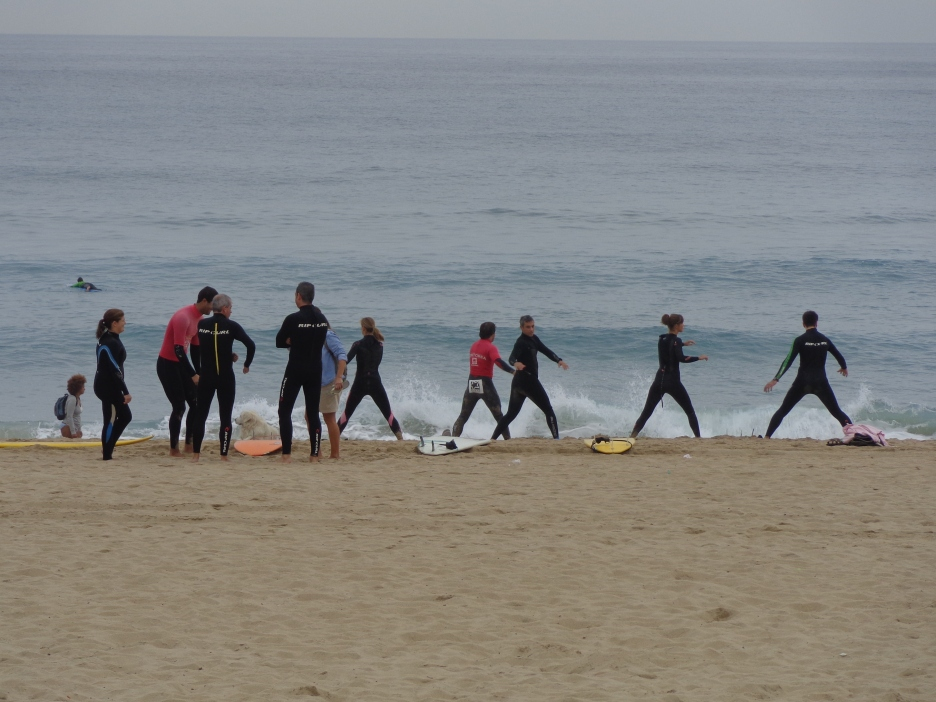 Surf school is in session