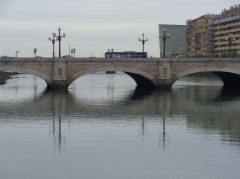 Santa Catalina bridge, with restaurant Ni Neu in background