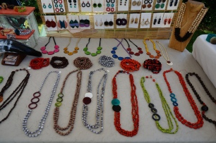 Handmade jewelry at the market