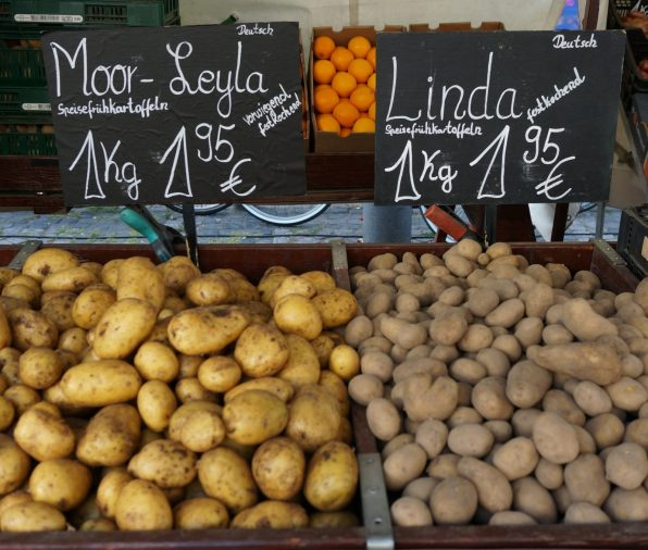 German potato varieties at market