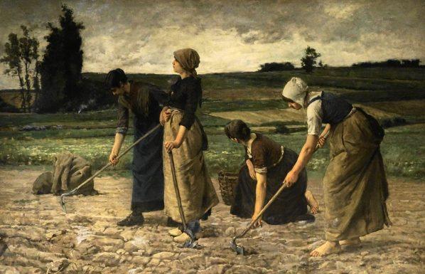 Potato farmers, painting in Kartoffel Museum