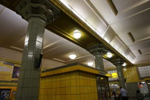 Tiled columns at Hermannplatz