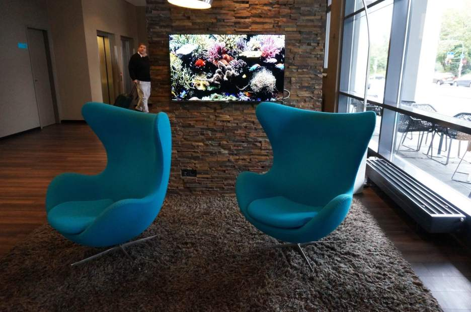 Danish design in the lobby