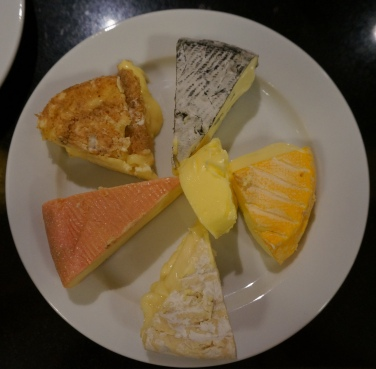 A perfect French cheese plate