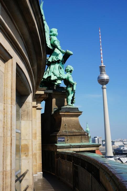 View of the Fernsehsturm at Alexanderplatz
