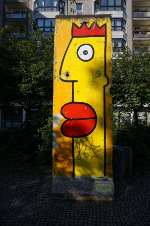 Terry Noir, remnant of Berlin wall in Mitte