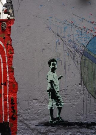 Stencil style in Graffiti Alley