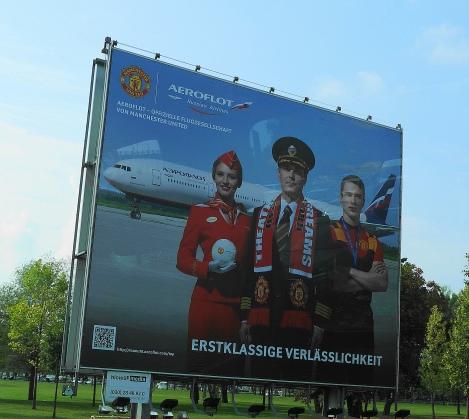 Aeroflot billboard - Schonefeld Airport