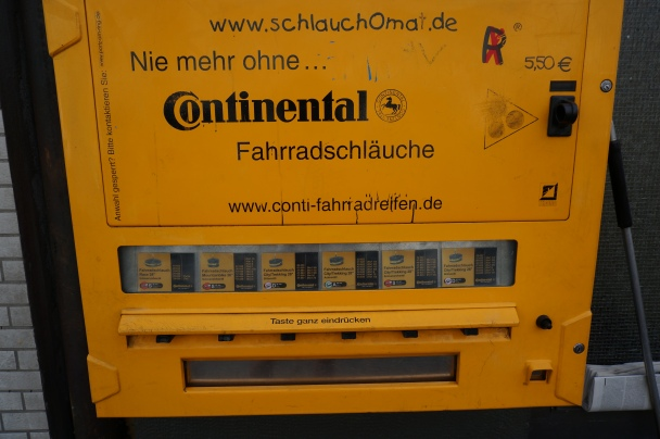 Bicycle innertube vending machine - Cologne