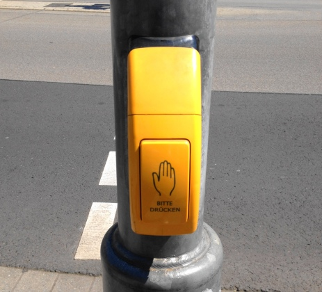 Walk signal button - Koblenz