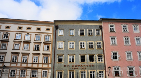 Pastel architecture in the old town