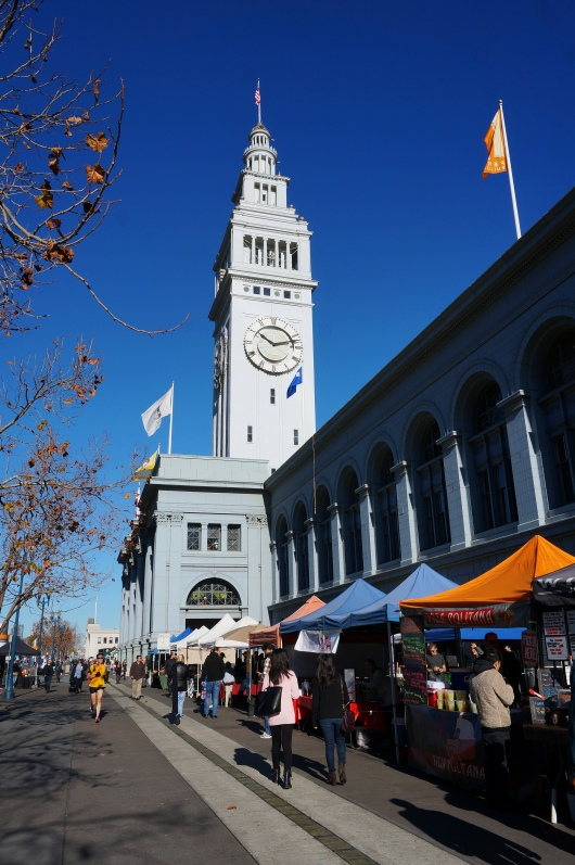 Food carts at the Ferry Building