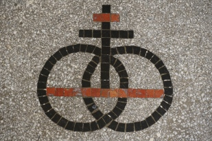Arctic Club's symbol. on the entry floor