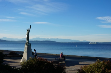 Miniature replica of the Statue of Liberty at Alki