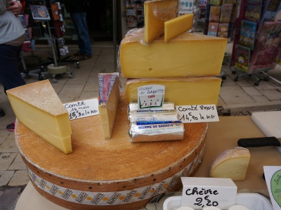 Comte cheese, and delicious fresh butter!