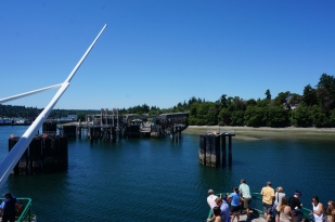 Arriving at Bainbridge ferry dock