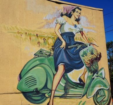 Mural at Ola Salon