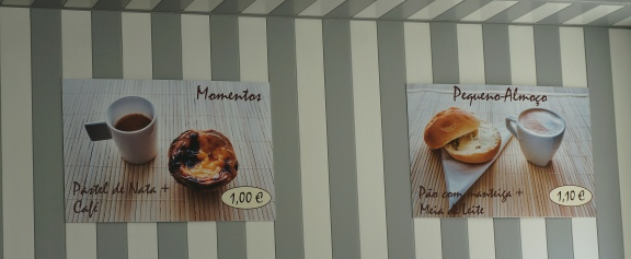 Breakfast options in Porto