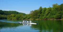 Rowers on the Doubs near Besancon