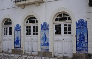 Azulejo murals at Aveiro train station