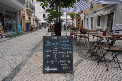 Sidewalk cafe in Aveiro. Why aren't you here yet?