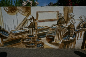 Waterfront mural at Trinite-sur-mer