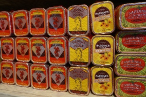 A small sample of the sardine varieties available in Brittany