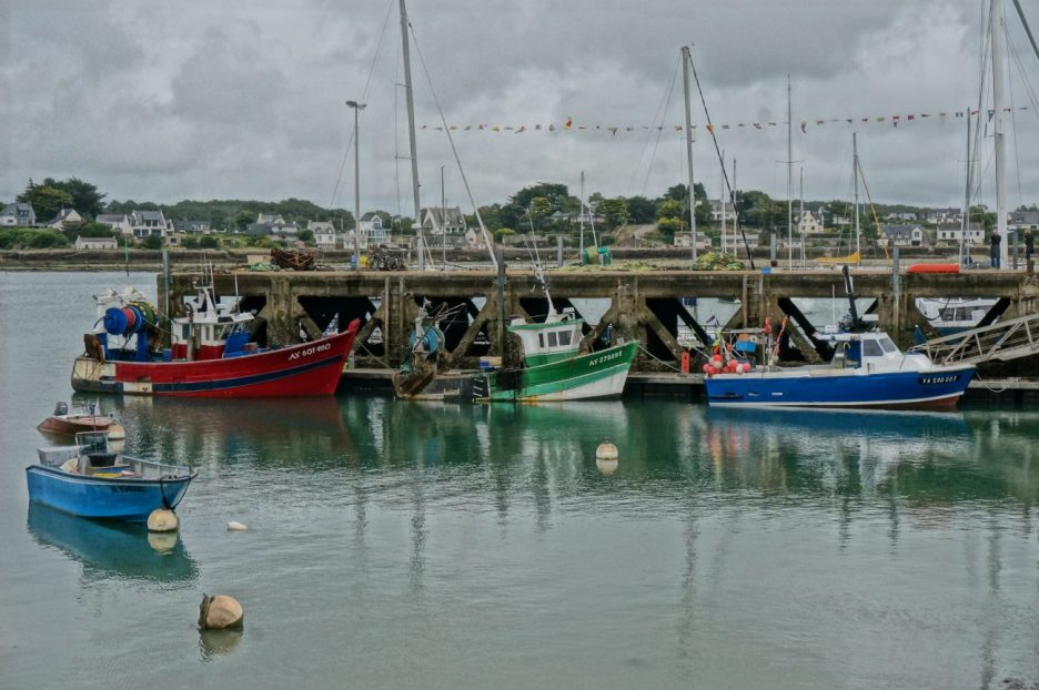 Fishing boats in port at Trinite-sur-Mer