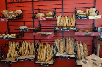 Fresh baguettes for a picnic beside the canal