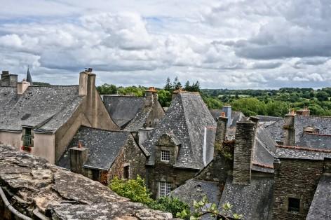 Rooftops in Rochefort-en-Terre