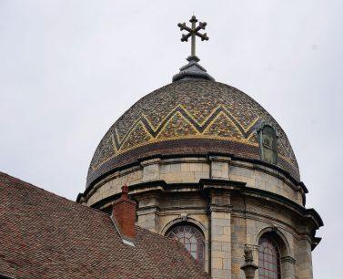 Mosaic tile dome of Chapelle Notre Dame du Refuge