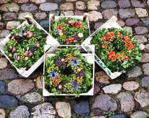 Gorgeous handmade wreaths at the Freiburg Farmer's Market