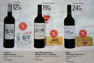 Supermarket wine adverts in advance of the fair