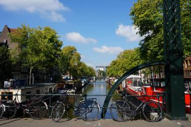 Canalside in Amsterdam