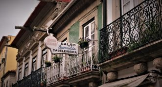 Vintage sign in Viana